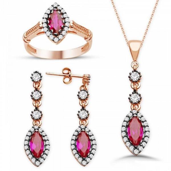 bridal jewelry-bridesmaid jewelry-victorian style-jewelry set-gift jewery-gold jewery-classic jewelry set-traditional beauty