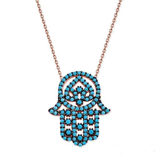 Hamsa hand necklace ,HamsaHand ,Hamsa hand jewelry,,bridesmaid necklace,tuquoise hamsa hand