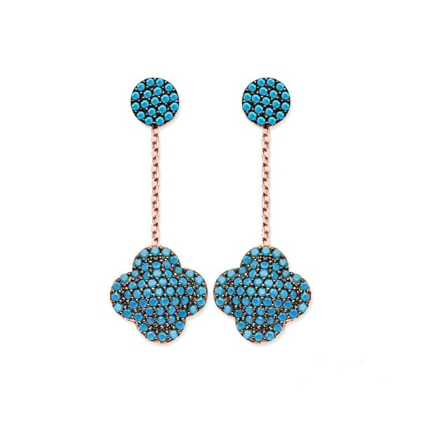 Clover Earrings Earring Silver Earrin Gold Turquoise