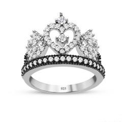 Crown Ring,Queen ring,heart tiara ring,princess tiara ring,hearts crown promise rings,tiara promise rings,queen crown rings,crown promise