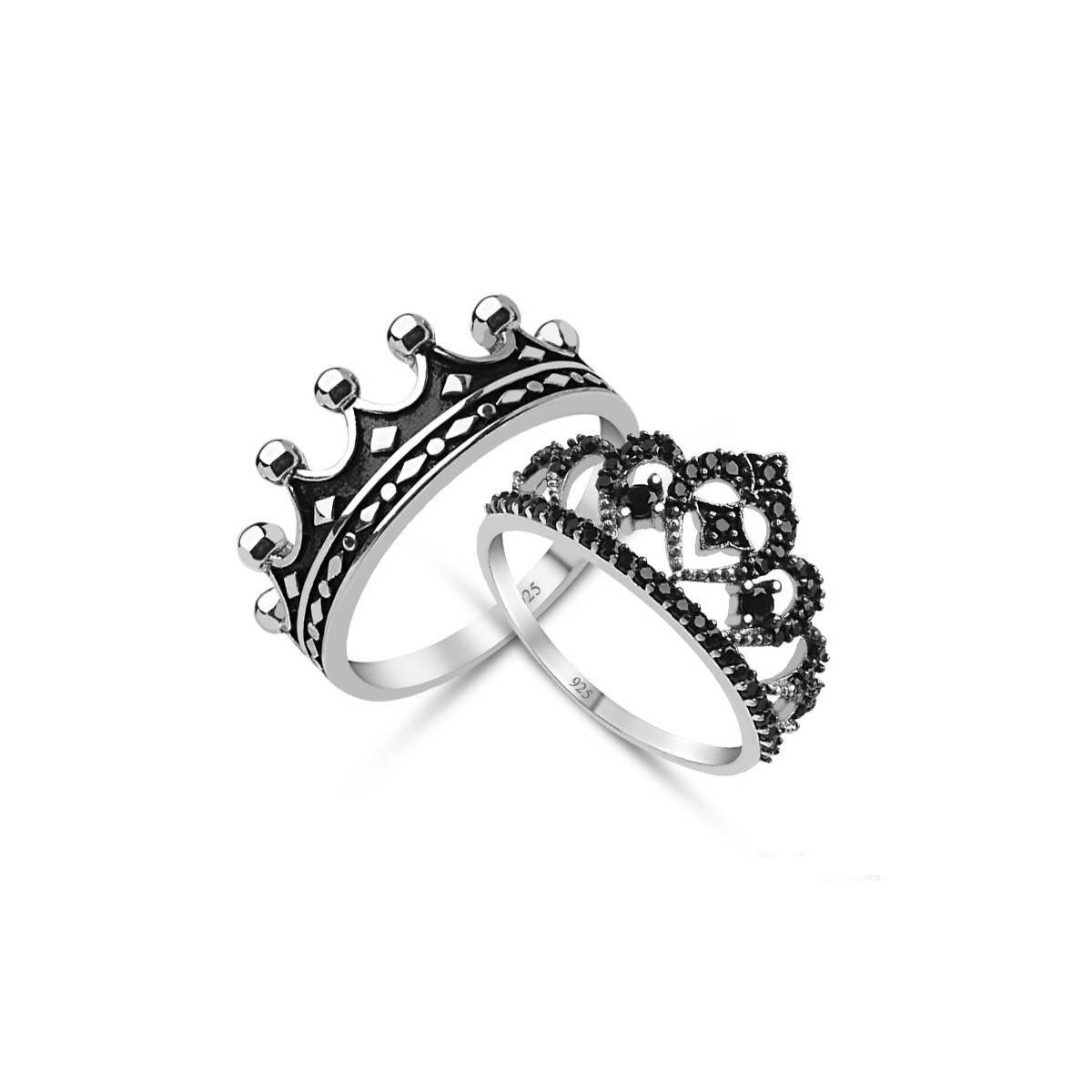 gold size rings rhinestone silver crown itm princess women gift ring fashion rose