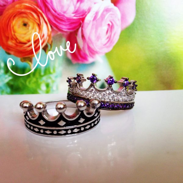 King & Queen,crown ring,crown ring set,gold crown ring,925k silver decorated with high quality zircon